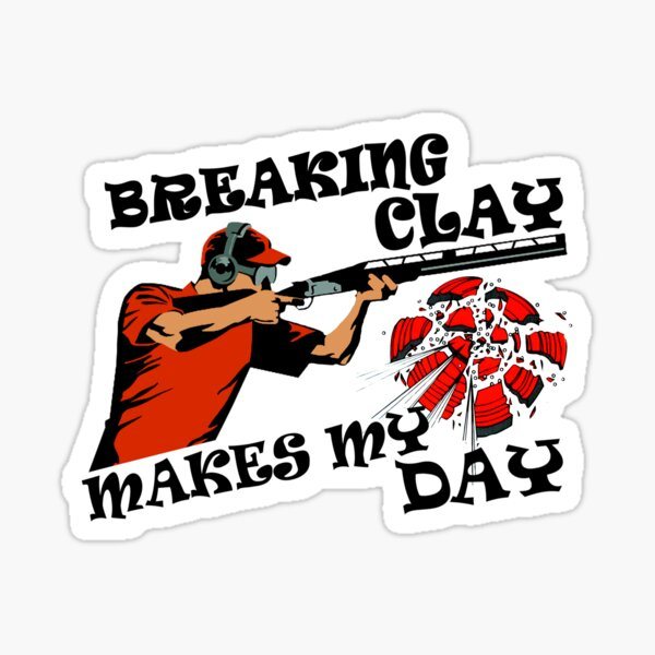 pigeon clay trap shooting for skeet shooting fans Sticker