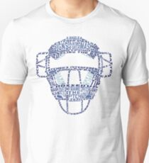 Baseball Catchers Mask Calligram T-Shirt