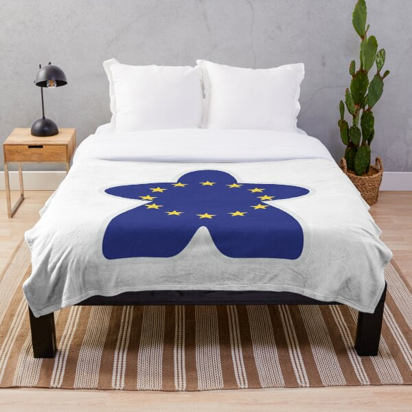 Eurogaming Euro Meeple Throw Blanket