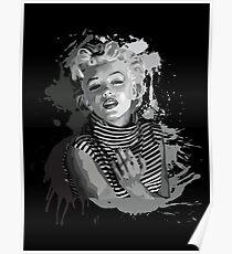 Marilyn Monroe (Black Background) Poster