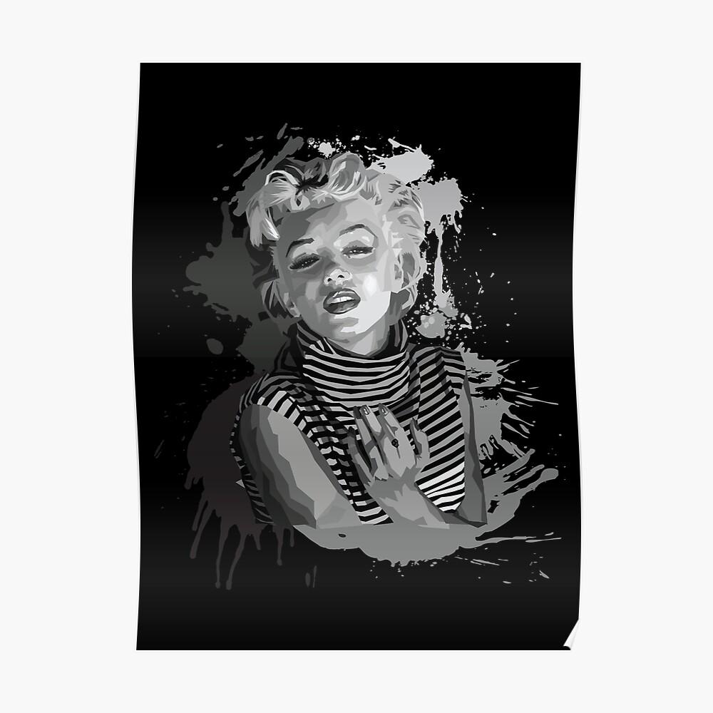 Marilyn Monroe (Schwarzer Hintergrund) Poster