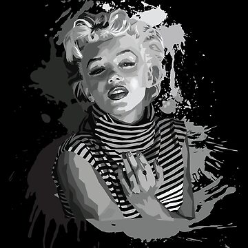 Marilyn Monroe (Black Background) by zrmcqueen