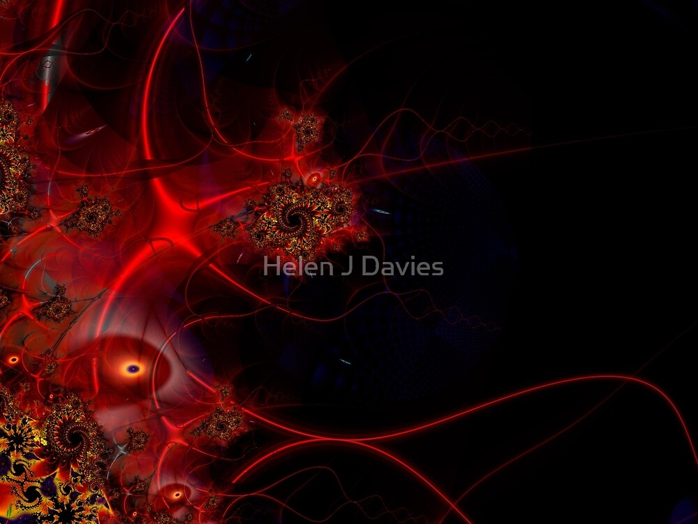 Swimming with Fishes Fractal Artwork by Helen J Davies