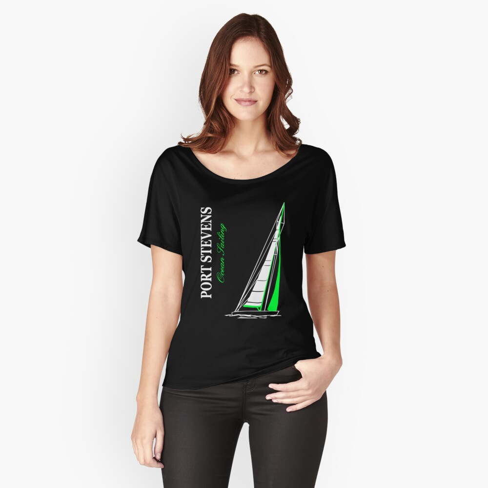 Ocean Sailing Sailingboat Women's Relaxed Fit T-Shirt Front