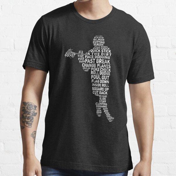 Lacrosse Player, LAX Slang, Word Art Essential T-Shirt