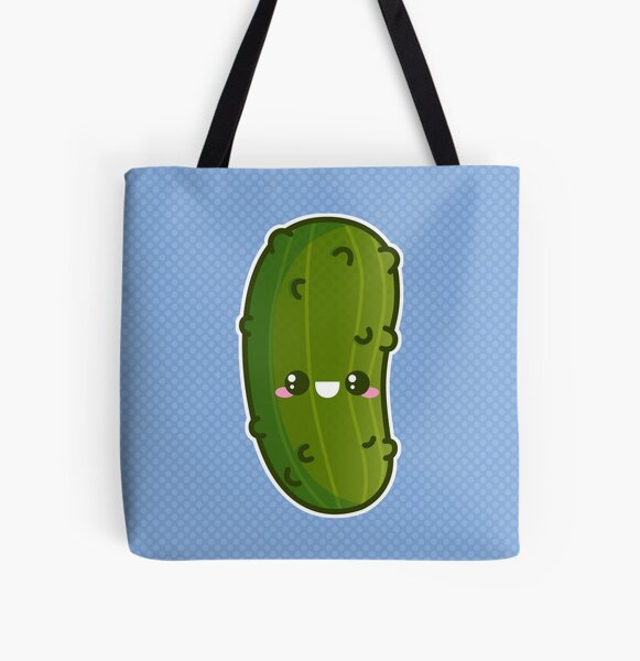 Kawaii Pickle All Over Print Tote Bag