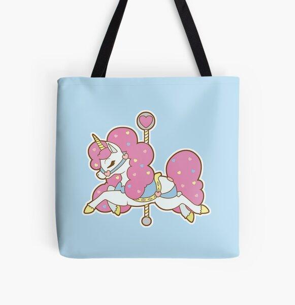 Carousel Unicorn All Over Print Tote Bag