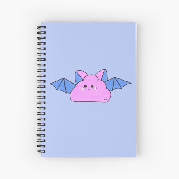 Halloween cute cloud bat, version blue and purple  Spiral Notebook