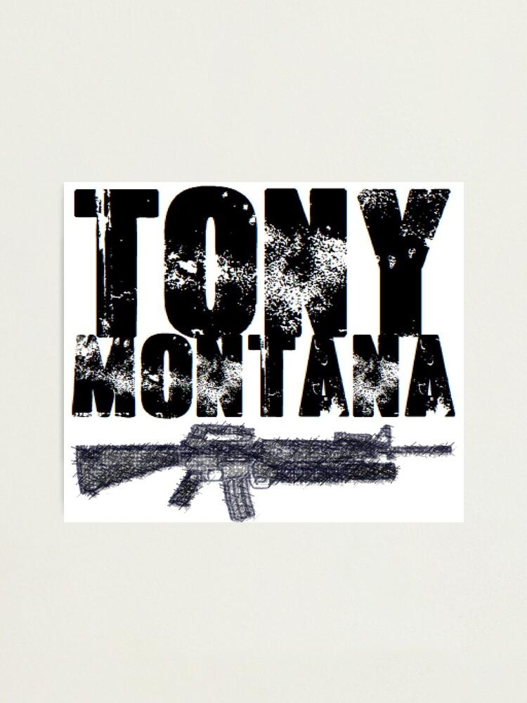 Tony Montana Scarface Logo Photographic Print By Baddeath Redbubble