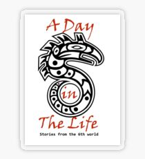 A Day in the Life Logo-small Transparent Sticker