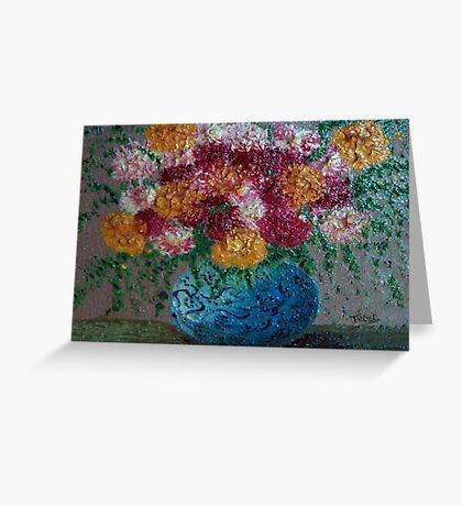 Blue flower pot Greeting Card