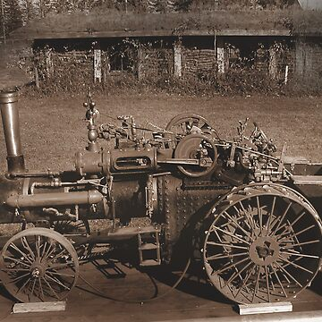 Early steam Powered tractor by mikej