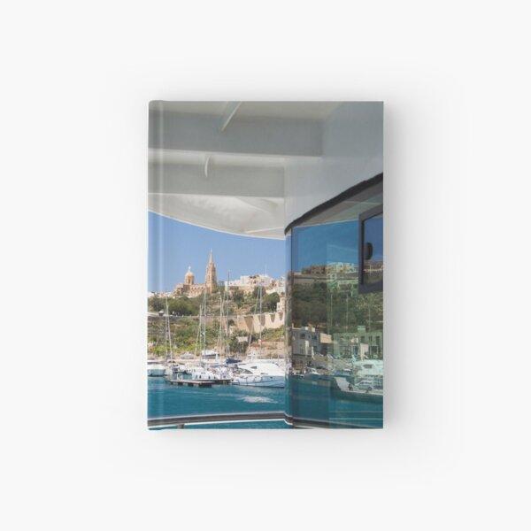 Arriving at Mġarr Harbour, Gozo Hardcover Journal
