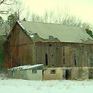 A Barn in winter.... by Larry Llewellyn