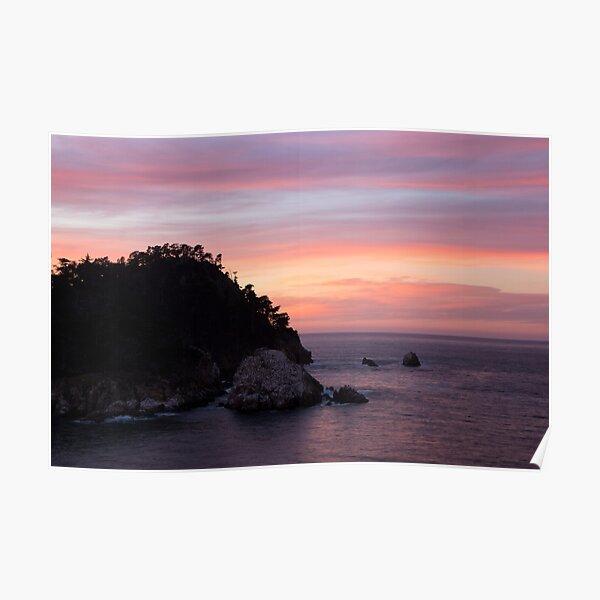 Point Lobos Sunset Poster