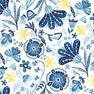 Blue Floral by noondaydesign