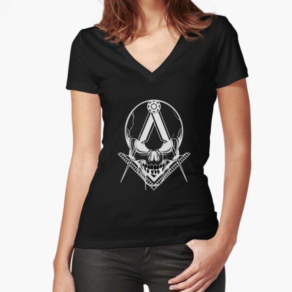 SKULLCOMPAS T-shirt moulant col V