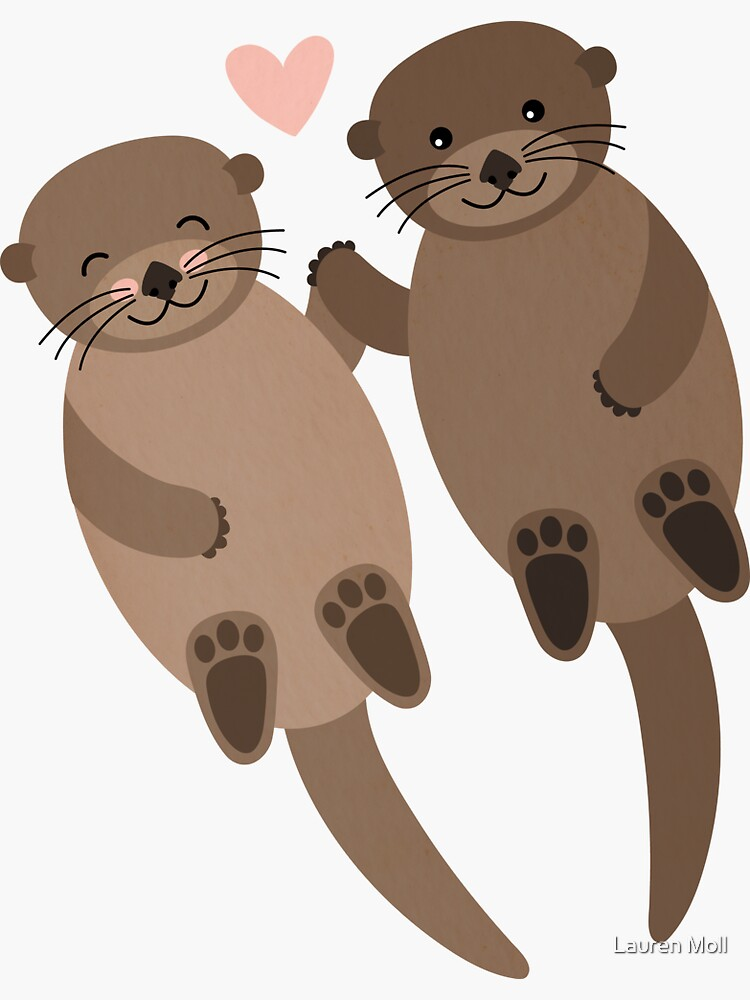 Otters by laurmolldesigns