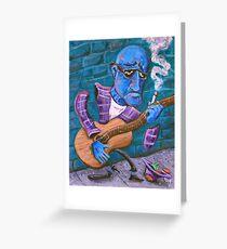 Po' Man's Blues Greeting Card