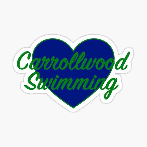 Carrollwood Swimming Heart Sticker
