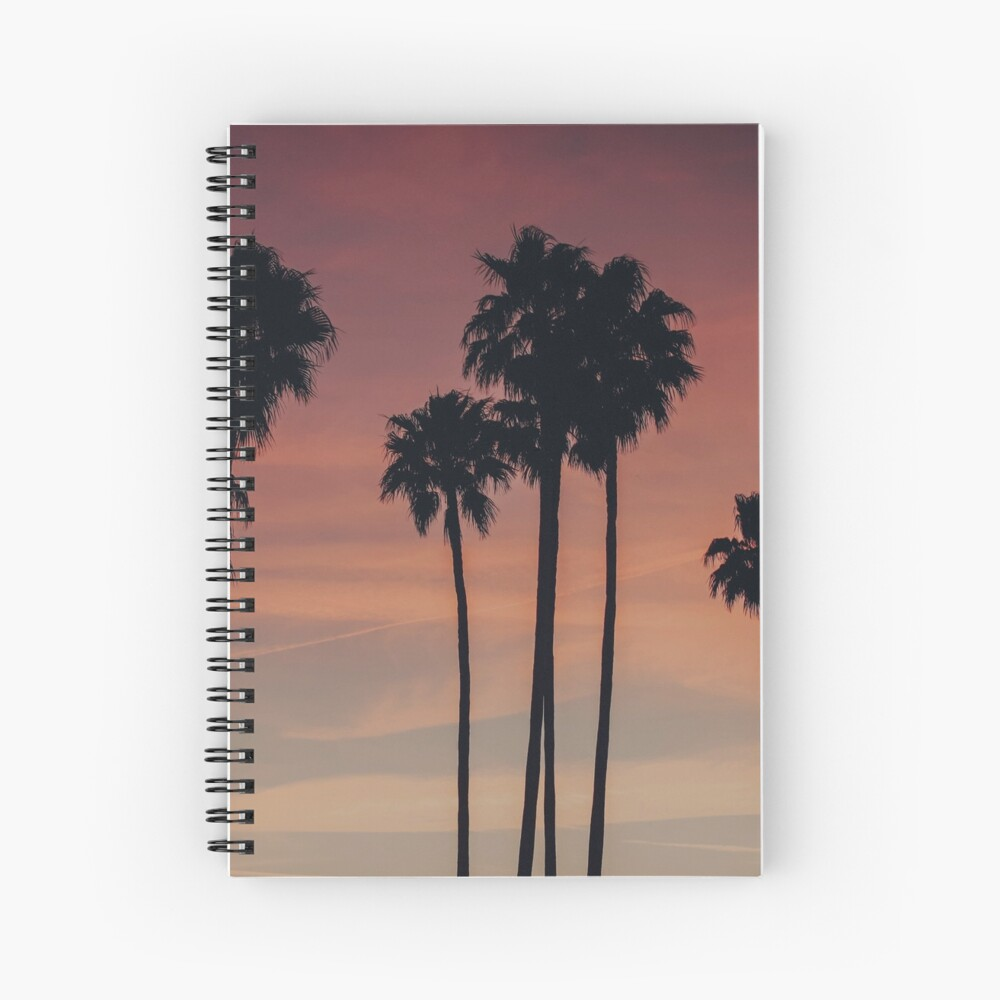 Sunset Palm Trees Vsco Tumblr Beach Aesthetic Spiral Notebook By Lydiarichphoto Redbubble
