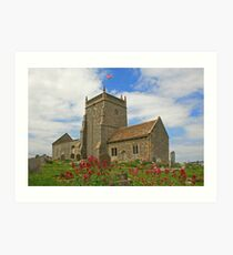 The Church of St Nicholas, Uphill Art Print