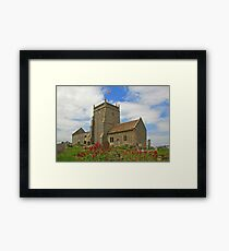 The Church of St Nicholas, Uphill Framed Print