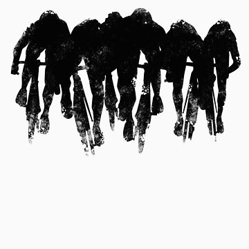 SPRINT FINISH cyclist silhouette print de SFDesignstudio