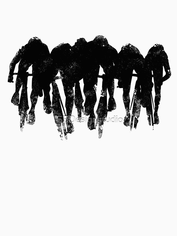 SPRINT FINISH cyclist silhouette print | Unisex T-Shirt