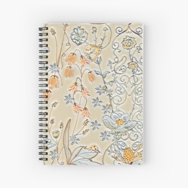 Piccadilly Floral Spiral Notebook