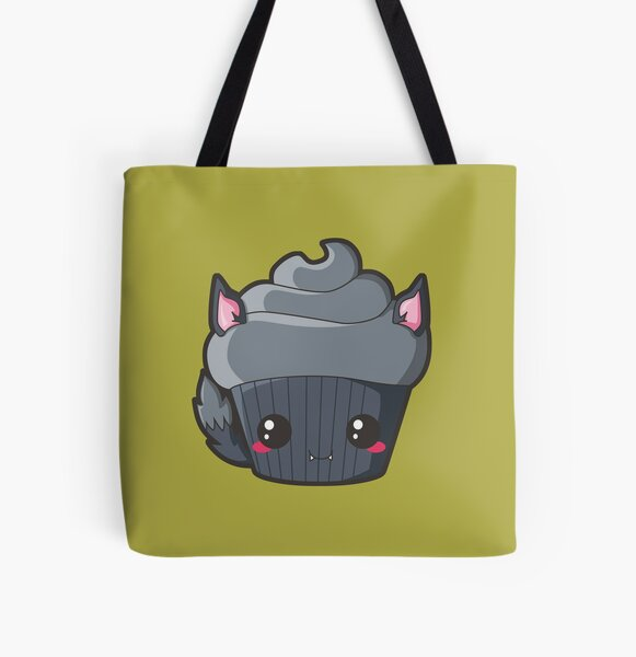 Spooky Cupcake - Werewolf All Over Print Tote Bag