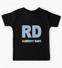 My little Pony - Initials Rainbow Dash - Black Kids Clothes