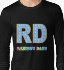 My little Pony - Initials Rainbow Dash - Black Long Sleeve T-Shirt