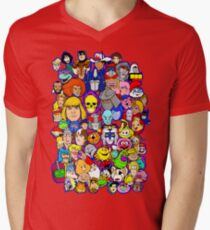 saturday morning collage V-Neck T-Shirt