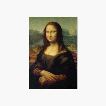 Mona Lisa - Leonardo da Vinci Art Board Print