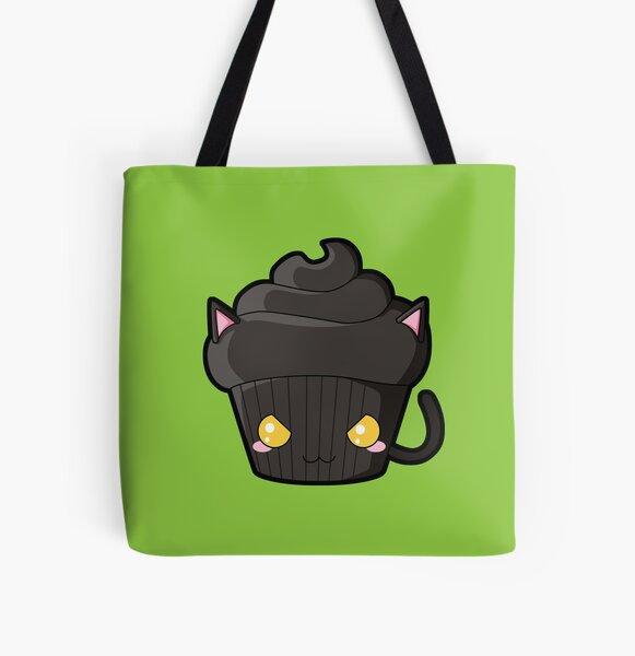 Spooky Cupcake - Black Cat All Over Print Tote Bag