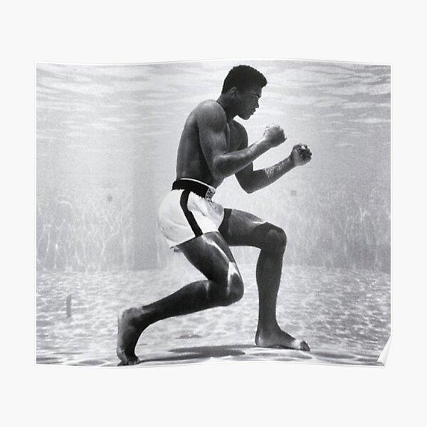 Mohamed Ali In The Water Poster