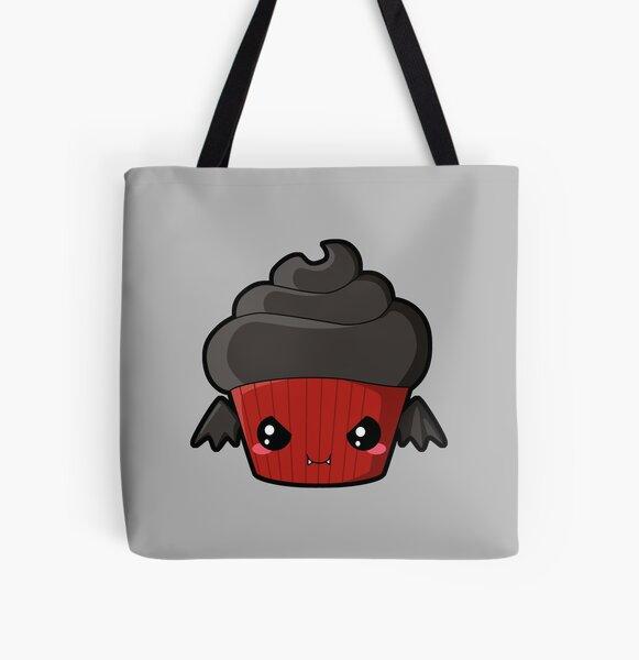 Spooky Cupcake - Vampire All Over Print Tote Bag