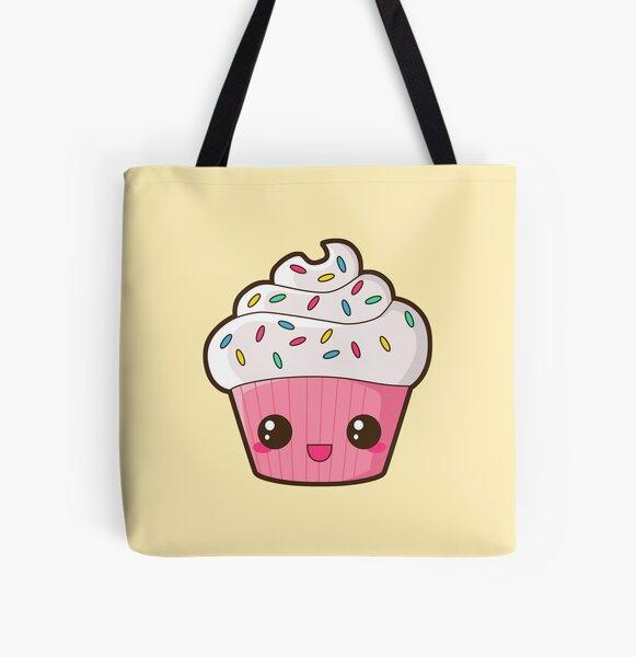 Happy Cupcake All Over Print Tote Bag