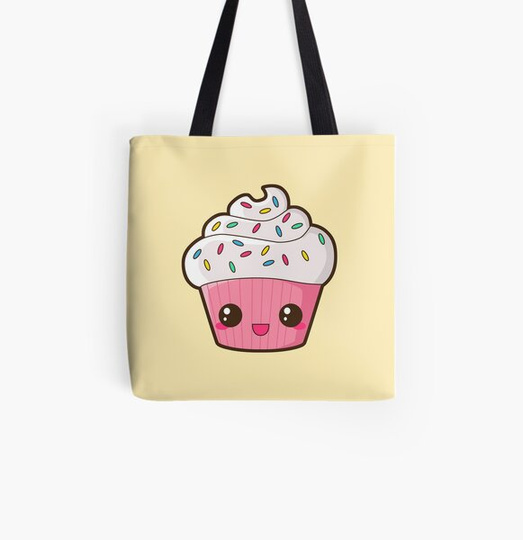 Happy Cupcake All Over Print Tote Bag