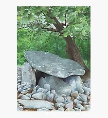 Dyffryn Burial Chamber, Wales - watercolour Photographic Print