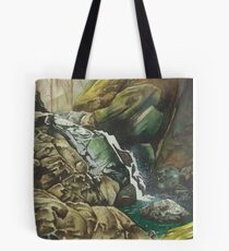 Independence Trail stream, Nevada City CA - watercolour Tote Bag