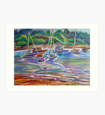 Colors Of Water- Winnererremy Bay, Pittwater, Mona Vale, Australia Art Print