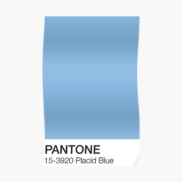 Pantone Placid Blue  Poster