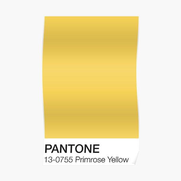 Pantone Primrose Yellow  Poster