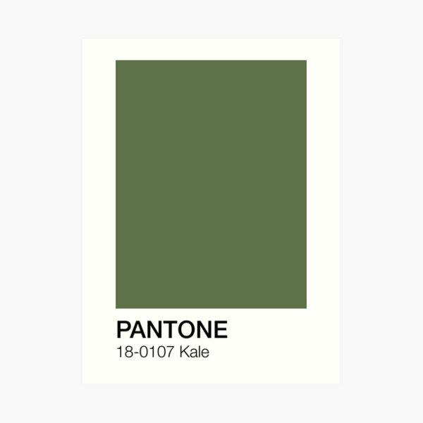 Pantone Kale Art Print