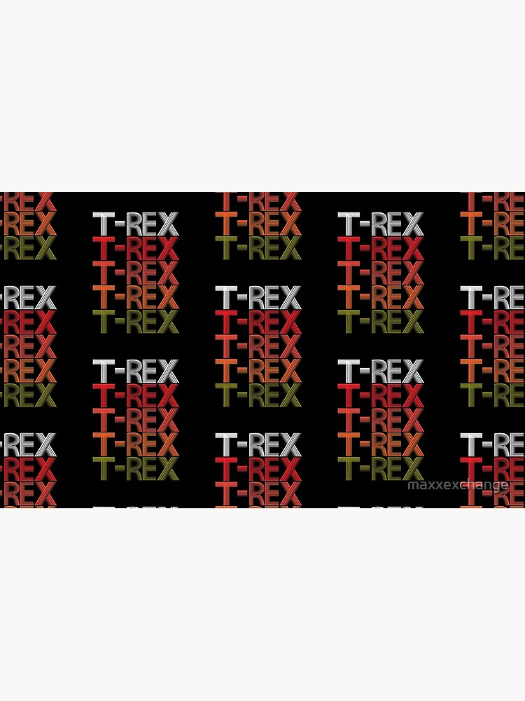 T-Rex Dinosaur Cool Retro Wordmark Pattern Design. by maxxexchange