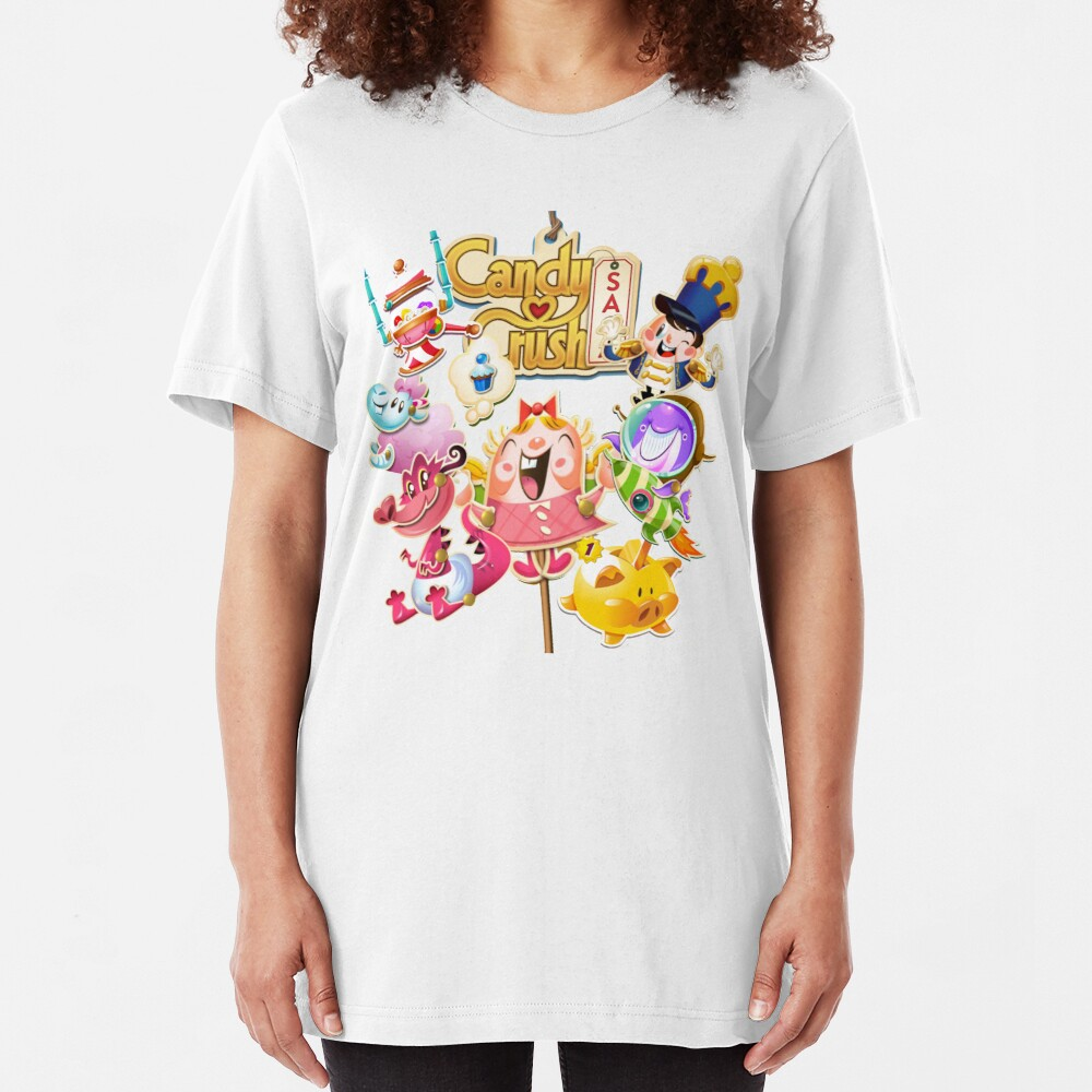 Tiffi and Her Pals Candy Crush Slim Fit T-Shirt
