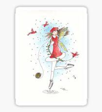 Happy New Year (blue) - The Knittington Fairies Sticker