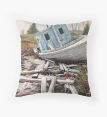 """Beached"" Throw Pillow"